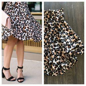 Leopard / cheetah swing skirt from H&M! 🐆